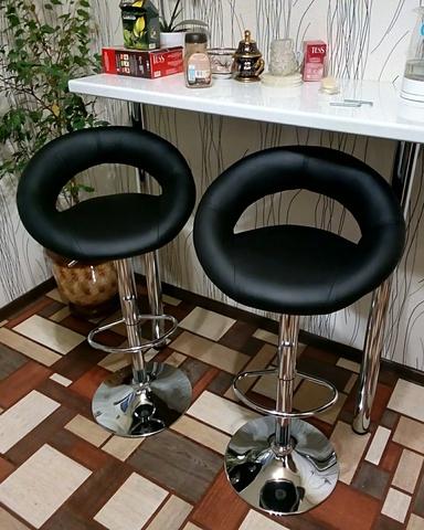 Сиденье для барного стула Mira/Мира, экокожа, черное (сидение)