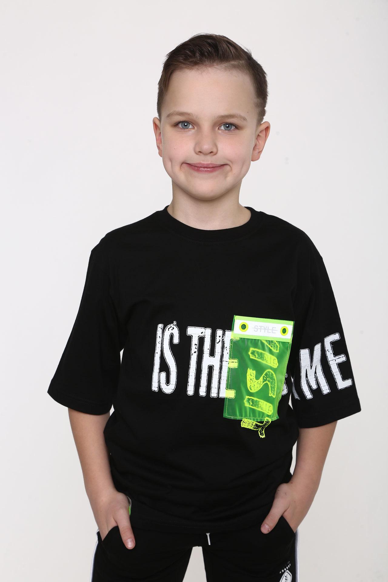 Футболка для мальчика прозрачный карман BlueLand Турция, 10466 (134-170)
