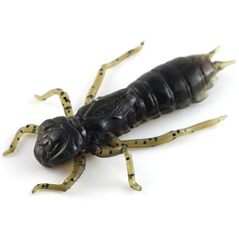 Силиконовая приманка FishUP Dragonfly цвет № 043 - Watermelon Brown/Black