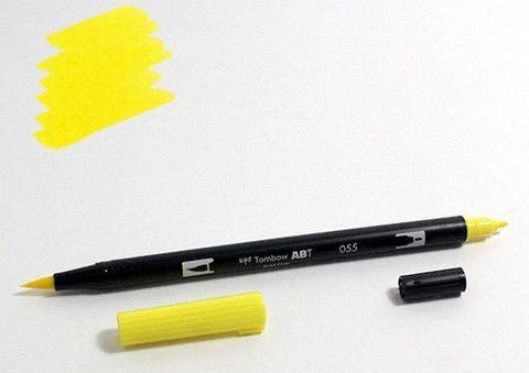 Маркер-кисть Tombow ABT Dual Brush Pen-055, желтый процесс