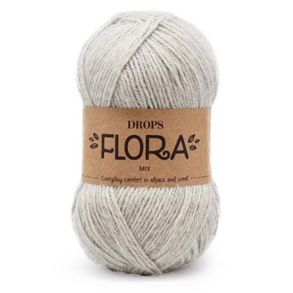 Пряжа Drops Flora 03 серый