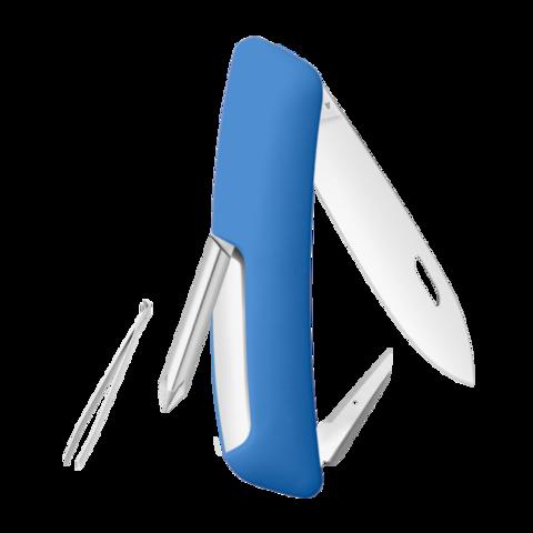 Швейцарский нож SWIZA D02 Standard, 95 мм, 6 функций, синий (блистер)