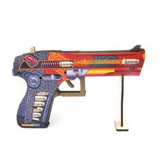 Пистолет деревянный с резинками, Шутер