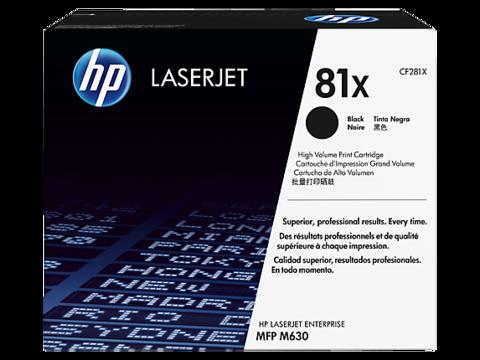 Оригинальный картридж HP CF281X (№81X), чёрный