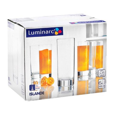 Набор стаканов Luminarc Исландия стеклянные высокие 330 мл 6 штук в упаковке (артикул производителя J0040)