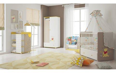 Стеллаж детский книжный Polini kids Disney baby 800 'Медвежонок Винни и его друзья', с текстильными