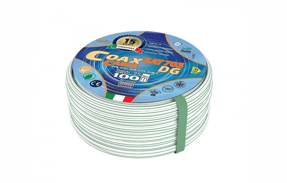 Коаксиальный телевизионный кабель SAT-703 Dg AVS Electronics Cu (100 м)