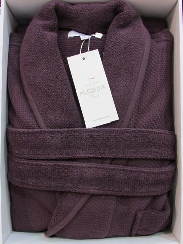 Мужской халат - махровая сетка Quattro Maison Dor тёмно-фиолетовый