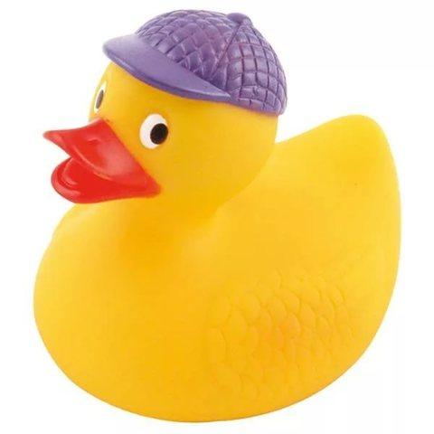 Игрушка для ванны - утка, 0+ форма: (фиолетовая шляпа)