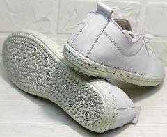 Летние женские кроссовки мокасины с белой подошвой Rozen 115 All White.