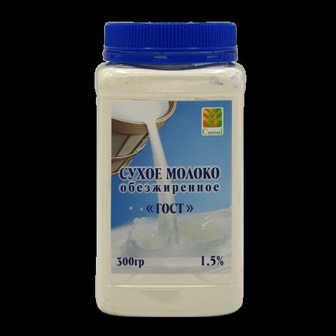 Молоко сухое обезжиренное ГОСТ 1.5% CEREAL, 300 гр