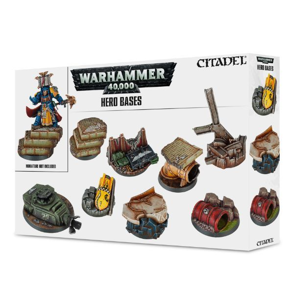 Warhammer 40,000 Hero Bases. Коробка