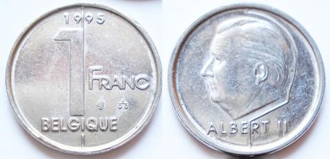 Бельгия 1 франк 1995