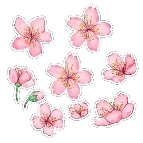 Печать на вафельной бумаге, Набор цветы 10
