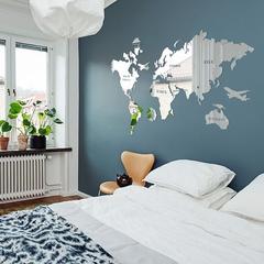 Зеркальная карта мира фото в интерьере