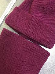 Зимняя объемная шапочка бини с отворотом