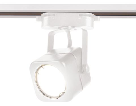 Трековый однофазный светильник со сменной лампой GL5107 WH белый GU10 max 12W