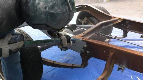 Пескоструйная обработка рамы Ленд Крузер 105