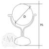 Зеркало оптическое настольное Migliore Mirella ML.MRL-1300 схема