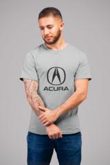 Мужская футболка с принтом Акура (Acura) серая 002