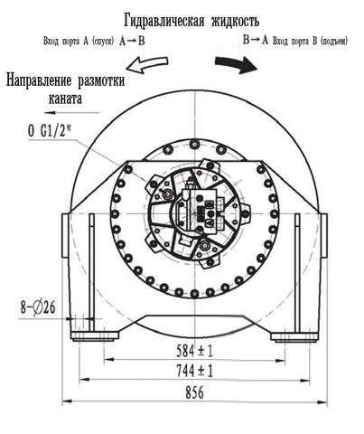 Эвакуационная лебедка IYJ45-120-149-28-ZPN