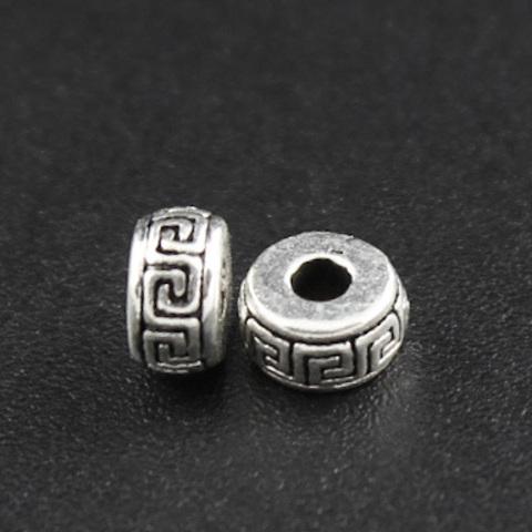 Рондель разделитель Греческий 6 х 2,9 мм серебро 925