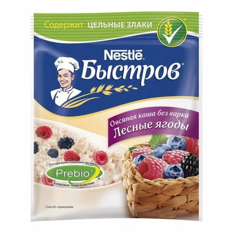 Каша БЫСТРОВ Овсяная Лесные ягоды 40 гр м/у РОССИЯ