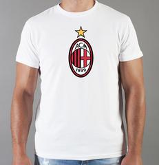 Футболка с принтом FC ACM Milan (ФК Милан) белая 003