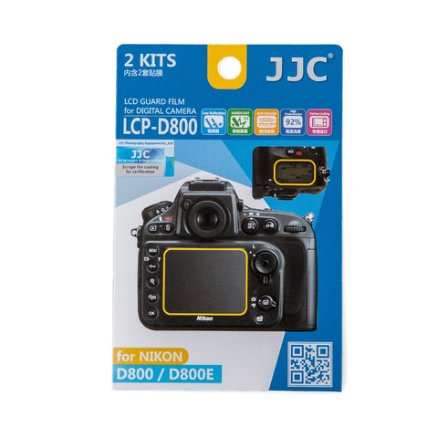 Набор защитных пленок JJC 2в1 для Nikon D800