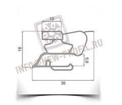 Уплотнитель для холодильника Samsung S268W SF BORT х.к 1010*535 мм (015)
