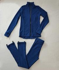Костюм для фигурного катания синий