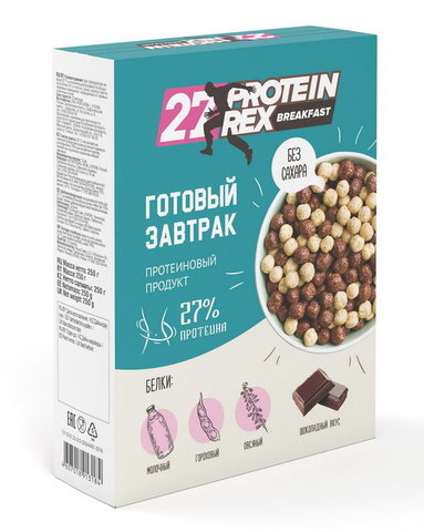 Готовый завтрак без сахара протеина-27%