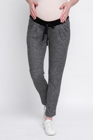 Спортивные брюки для беременных 10079 черный меланж