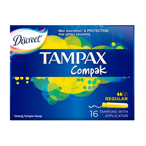 """Тампоны """"Tampax"""" compak с аппликатором Regular 16шт"""