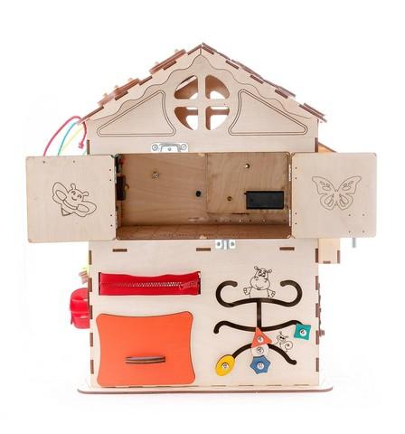 Бизиборд IWOODPLAY Развивающий домик напрокат