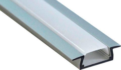 Профиль алюминиевый встраиваемый, серебро, CAB251 2000x22x6мм