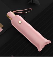 Ультратонкий элитный зонт, 6 спиц  (OLYCAT) розовый с золотом