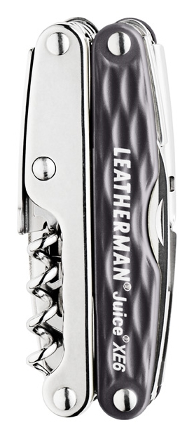 Мультитул Leatherman Juice Xe6, 18 функций, серый гранит (подарочная упаковка)