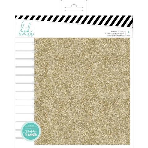 Ежедневник на пружине с наполнением Heidi Swapp Large Memory Planner Spiral  (17х21 см)-  Color Fresh, Gold Glitter