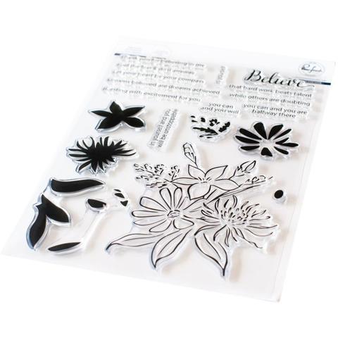 Штамп силиконовый Pinkfresh Studio Clear Stamp Set  15х20 см - Believe In Yourself