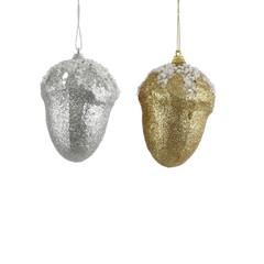 Елочная игрушка 10х10см House of Seasons Желудь серебро/шампань в ассортименте 2 вида