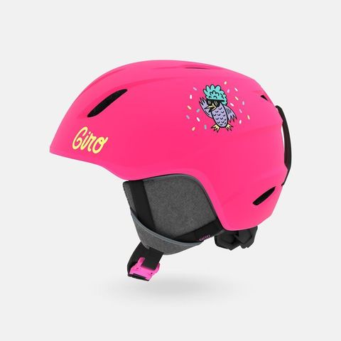 Шлем детский GIRO LAUNCH Matte Bright Pink/Disco Birds