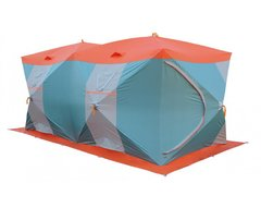 Палатка рыбака Нельма Куб-4 Люкс Профи (двухслойная, серебрянка)