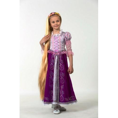 Карнавальный костюм Рапунцель с париком