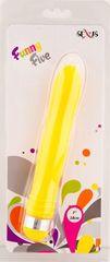 Желтый водонепроницаемый вибратор - 18 см.