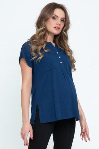 Блузка для беременных 11588 синий