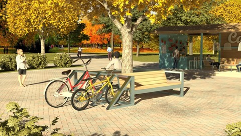 Диван сдвоенный с велопарковкой СИТИ
