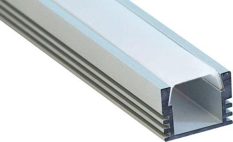 Профиль алюминиевый накладной, серебро, CAB261 2000x12x6мм