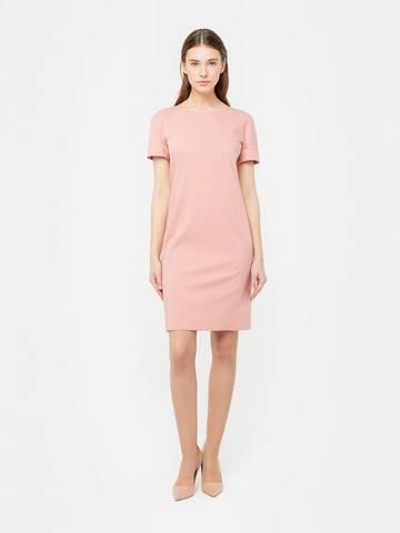 Фото розовое платье футляр приталенного силуэта с цельнокроеным коротким рукавом - Платье З277-925 (1)