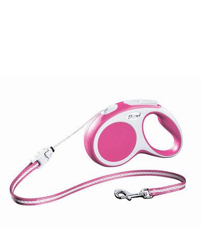 Flexi поводок-рулетка New Comfort XS (до 8 кг) трос 3 м (черный/розовый)